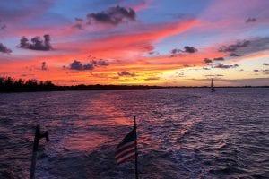 Yacht Delivery Stuart FL Sunset
